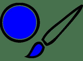 Blauwe Schmink