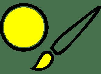 Gele Schmink