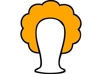 Oranje Krullen Pruiken