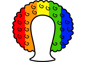 Regenboog Afro Pruiken