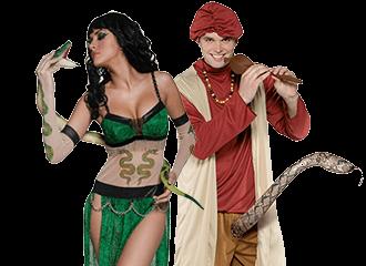 Slangenbezweerder Kostuums