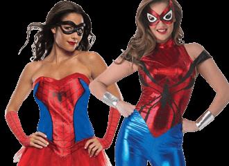 Spiderwoman & Spidergirl Kostuums