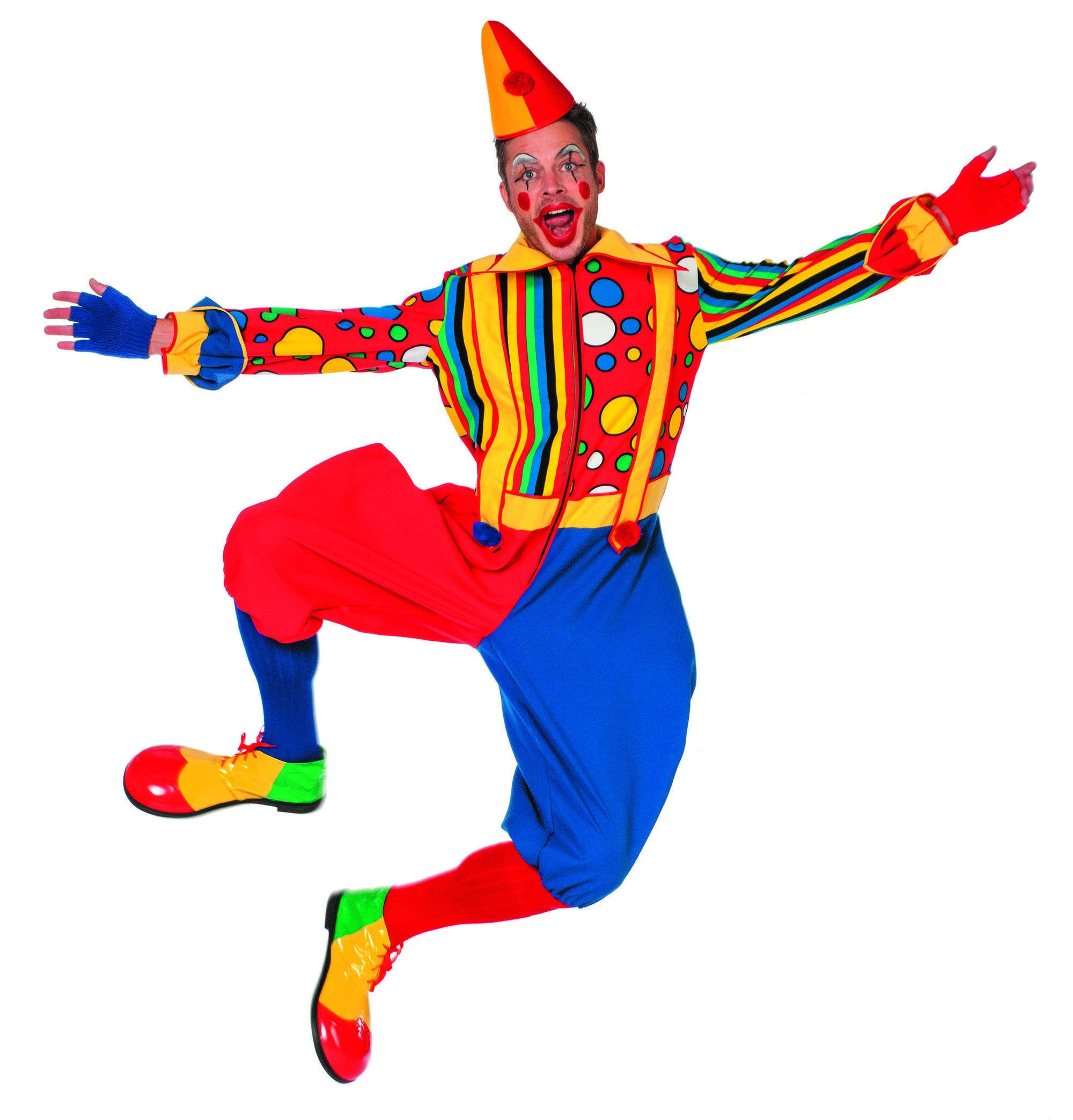 Uitbundige Pierot Clown Bubbles Man Kostuum