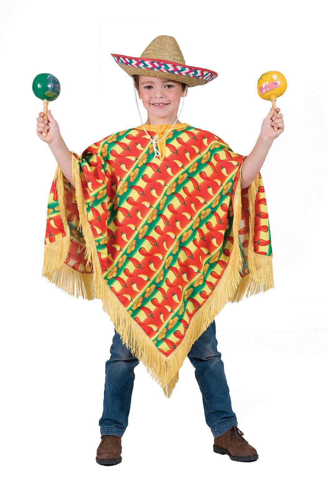 Orale Amigo Poncho Kind Kostuum