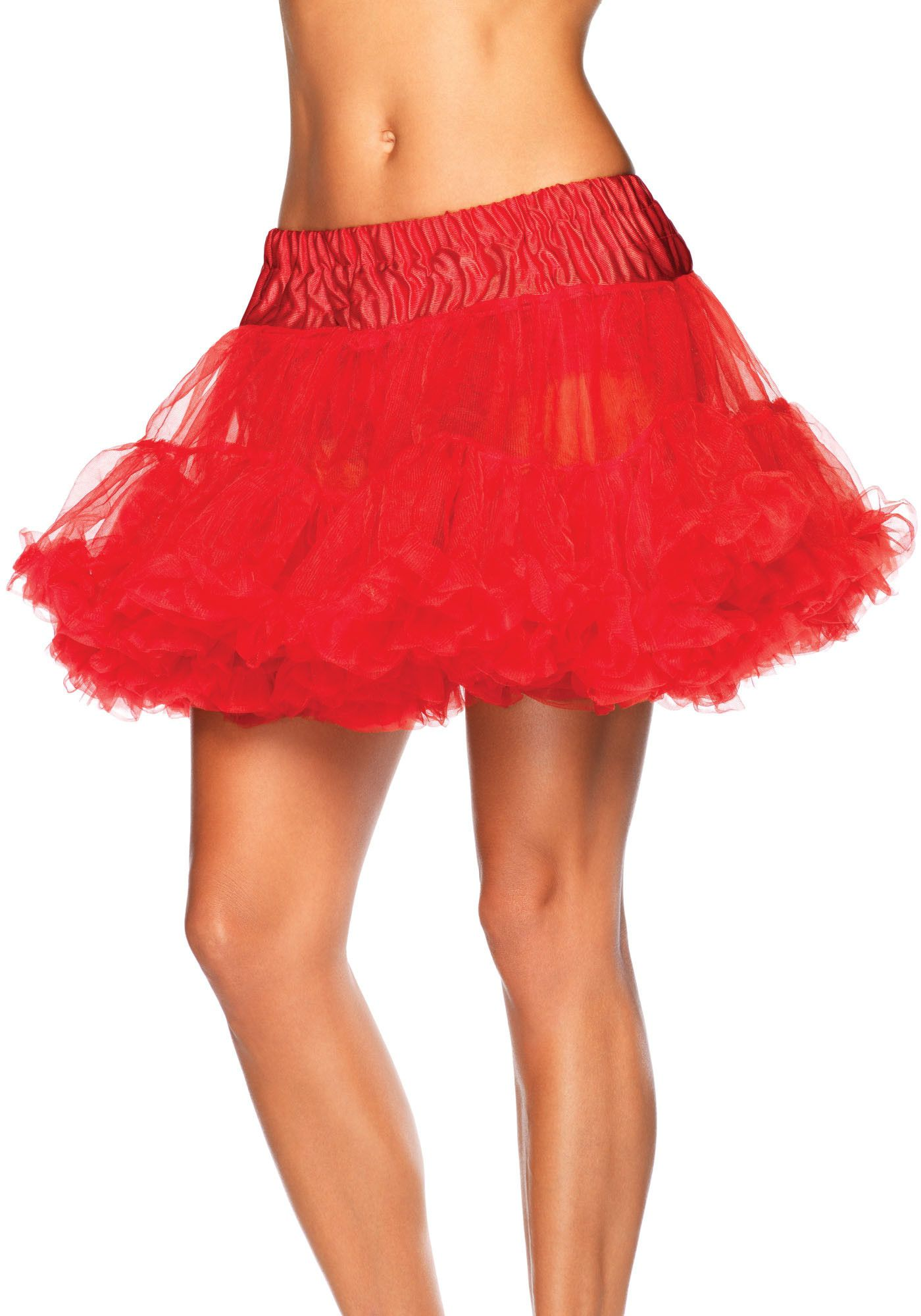 Basic Petticoat Met Twee Lagen Rood