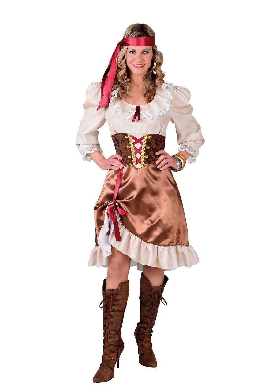 Parmantige Kraaiennnest Piraat Vrouw Kostuum