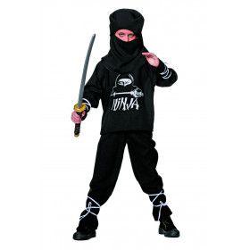 Black American Ninja Jongen Kostuum