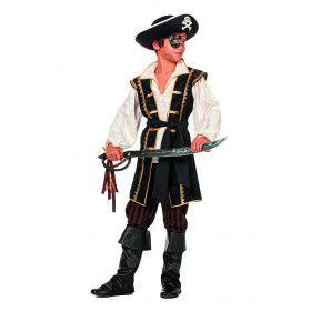 Le Buckanier Bruine Piraat Jongen Kostuum