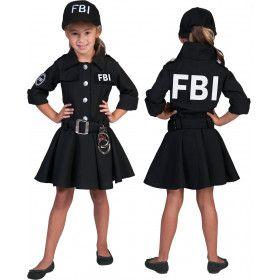 Zwarte Fbi Arrest Meisje Kostuum