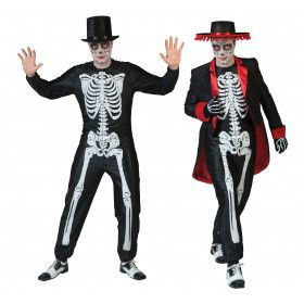 Muertos Mexicanos Met Zwart Wit Botten Print Man Kostuum