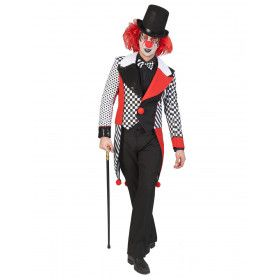Dambord Met Stippels Circus Clown Slipjas Man