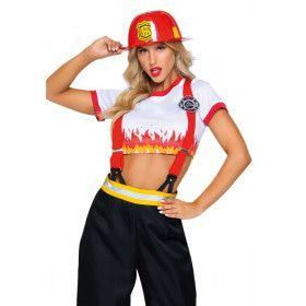 Heldin Van Hete Vuren Vrouw Kostuum