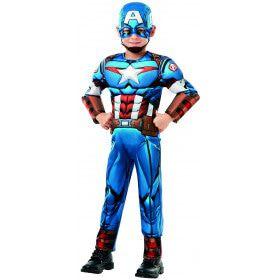 Captain America Avengers Assemble Deluxe Jongen Kostuum