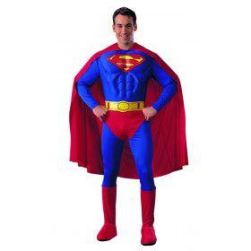 Zwaar Gespierde Borstkas Superman Kostuum