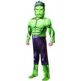 Groene Sterke Opblaaskaak Hulk Deluxe Jongen Kostuum