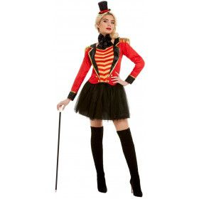 Circusdirecteur Op En Top Showvrouw Kostuum