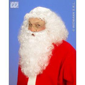 Luxe Set Kerstman, Pruik En Baard