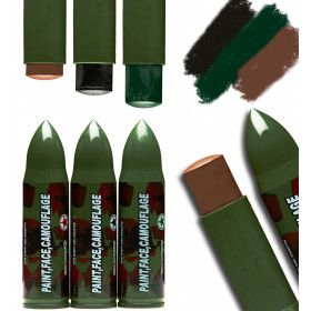 Army Gezicht En Lichaam Make-Up Camouflage