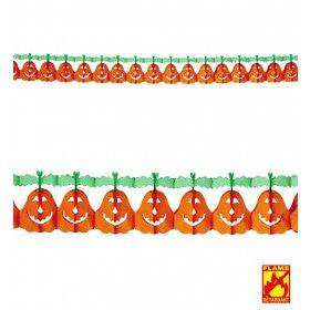 Vrolijke Halloween Slinger Pompoen 4 Meter