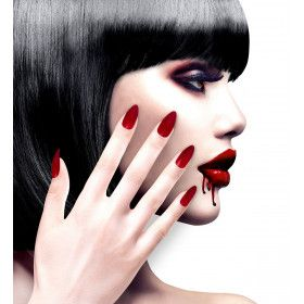 Nagels Vampira Stiletto Bordeaux Rood