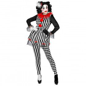 Halloween Harlekijn Drukke Patronen Vrouw Kostuum