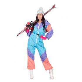 Fout 80s Ski-Pak Vrouw Kostuum