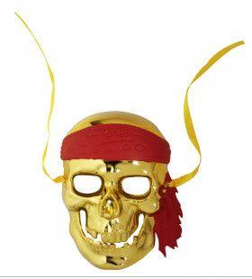 Schedelmasker Piraat Goud