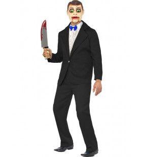 Horror Buikspreekpop Man Kostuum