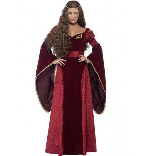 Middeleeuws Luxe Koningin Vrouw Kostuum