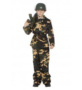 Camouflage Groen Attack Soldier Jongen Kostuum