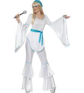 Abba Zangeres Vrouw Kostuum