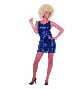 Miss Glitter Jurkje Pailletten Patty Blauw Vrouw