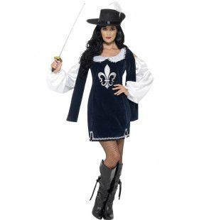 Luxe Musketier Vrouw Kostuum