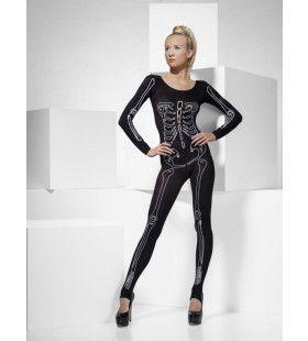 Skelet Jumpsuit Sexy Vrouw Kostuum