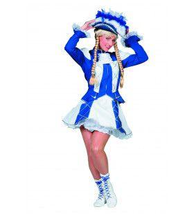 Showmeisje Dansmarietje, Blauw Vrouw Kostuum