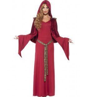 Rode Hogepriesteres Vrouw Kostuum