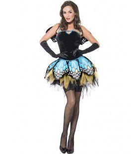 Prachtige Page Vlinder Vrouw Kostuum