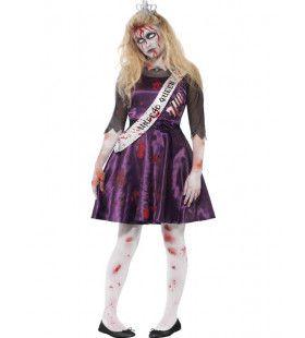 Zombie Carrie Prom Schoolfeest Meisje Kostuum