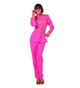 Beatles Sgt. Pepper Roze Vrouw Kostuum