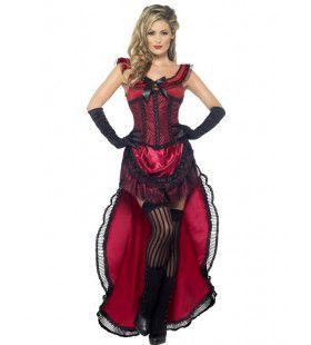 Bordeel Dame Uit De Western Vrouw Kostuum