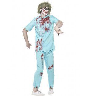 Zombie Tandarts Wortelkanaal Man Kostuum