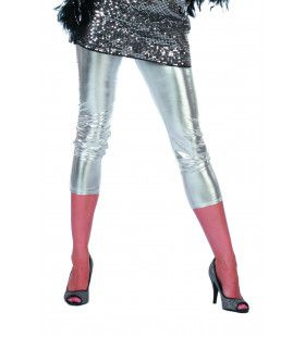 Bling Zilveren Legging Vrouw