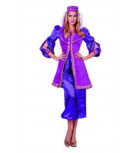 Keurige Oosterse Paarse Prinses Vrouw Kostuum