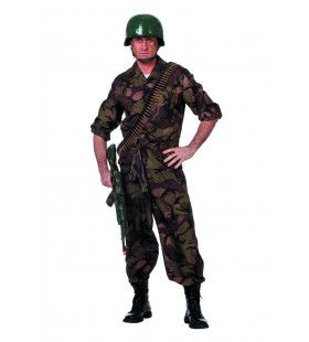 Battle Field Camouflage, Groen Man Kostuum