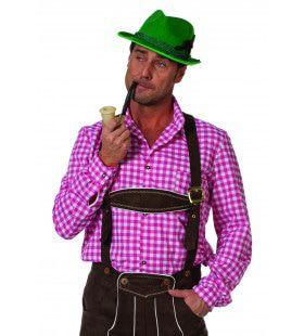 Auf Wiedersehen Overhemd Tiroler Roze