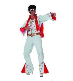 Rock 50s Mr. Elvis Met Sjaal Man Kostuum