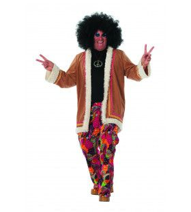 Hippie Lang Spliffy Man Plus Size Kostuum