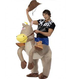 Ride Em Cowboy Opblaasbaar Kostuum