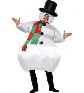 Opblaasbaar Sneeuwpop Man Kostuum