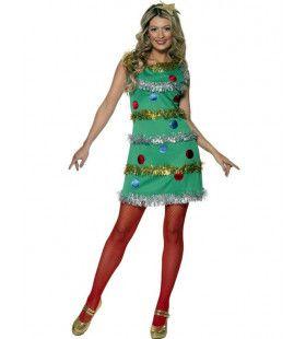 Groene Sexy Kerstboom Jurk Vrouw Kostuum